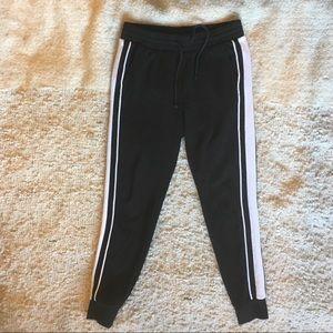 H&M Black & White Sweatpants w Drawstring Small
